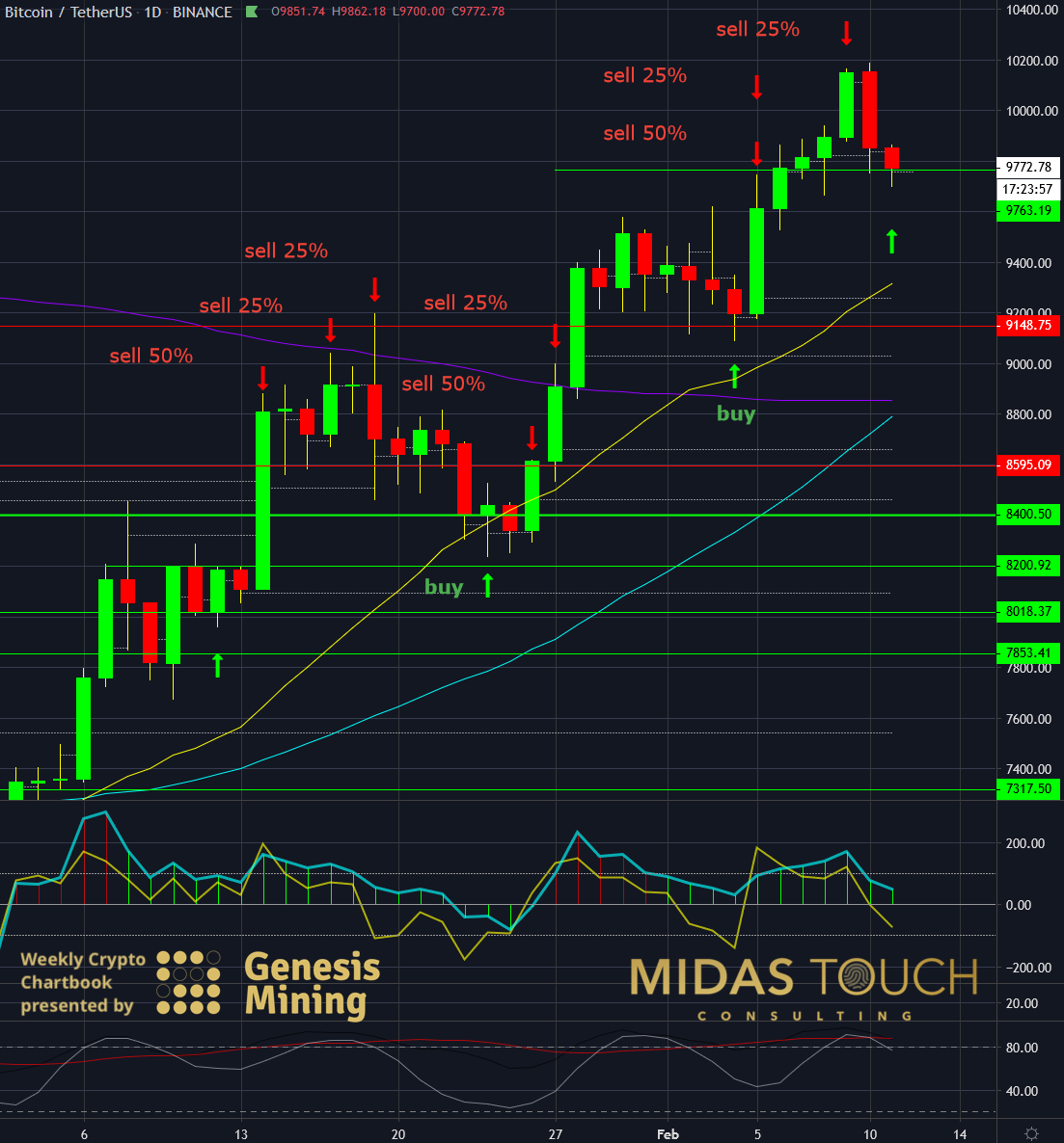 BTCUSDT daily chart as of February 11th, 2020