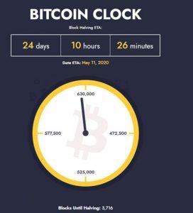 Bitcoin Halving Clock