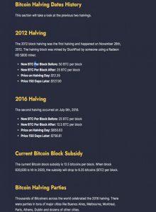 Bitcoin Halving Dates History