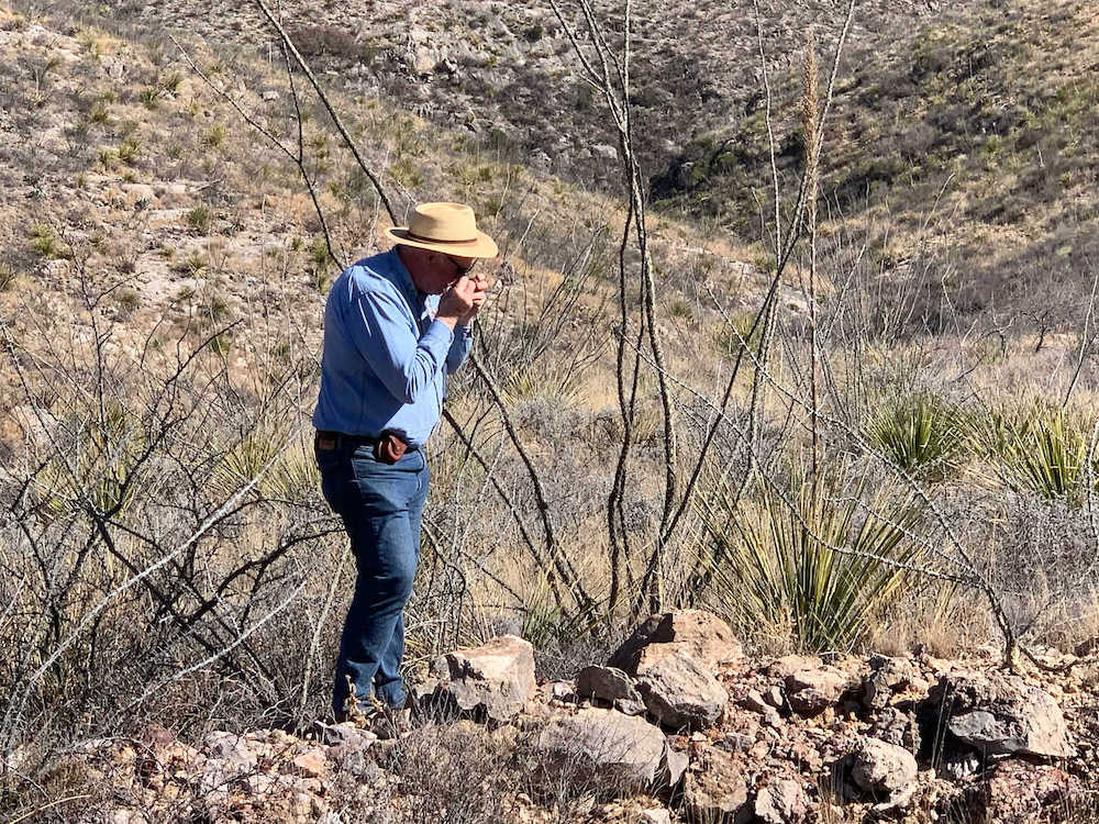 Dr. Peter Megaw inspecting surface samples at Guigui. Reyna Silver - Hi-tech silver miners lead search for Mexico's hidden treasure