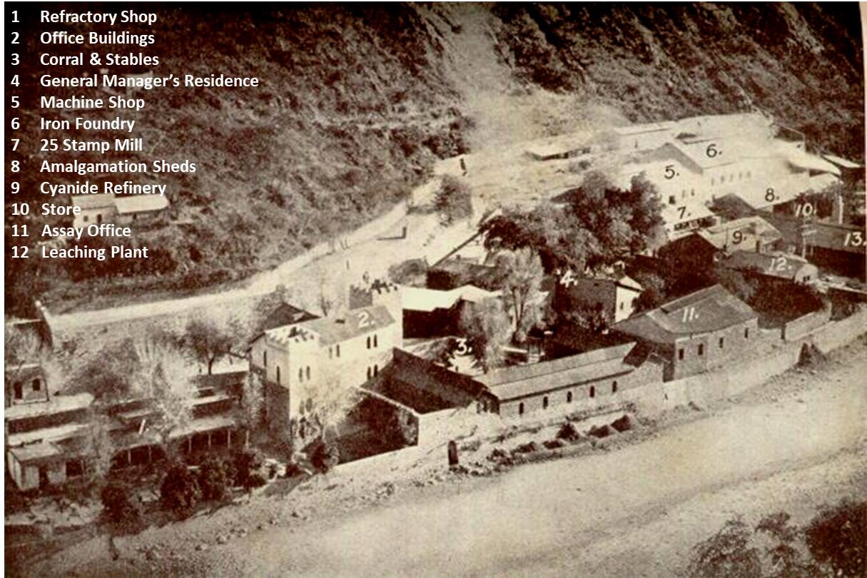 The old Batopilas Hacienda San Miguel in 1935.
